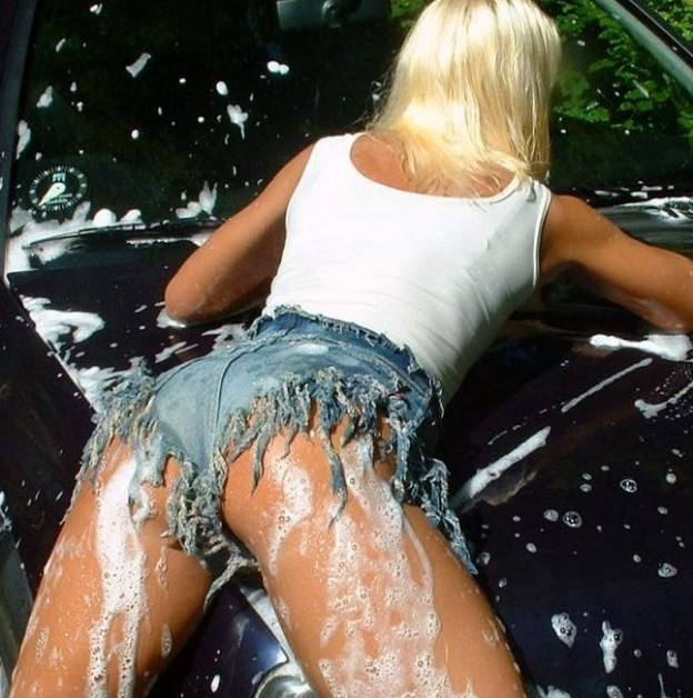 car wash girl